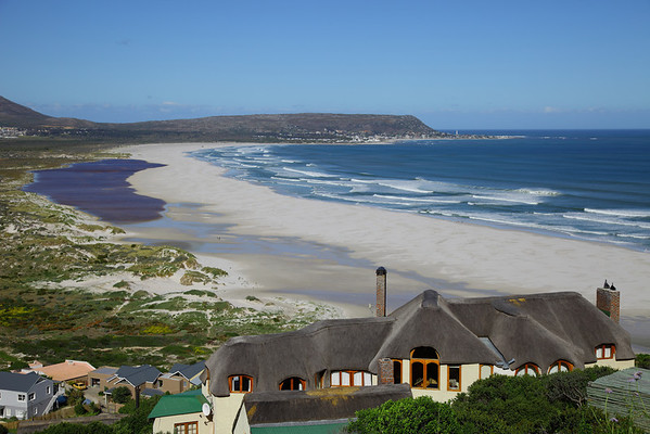 Long Beach, Noordhoek, Cape Town, South AFrica.  Kommetjie in the background.