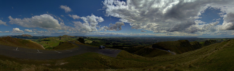 Panoramic View from Te Mata Peak - Havelock North, Hawke's Bay, New Zealand